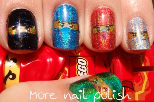 More Nail Polish: Ninjago nail art