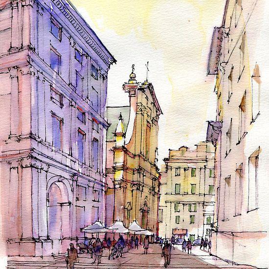 Angolo di Piazza De Ferrari a Genova  - By Luca Massone
