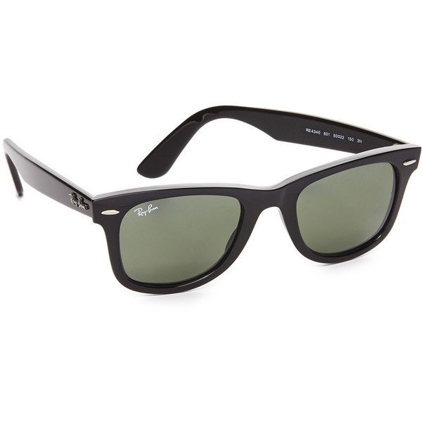 Ray-Ban Wayfarer Straight Sunglasses (205 CAD) ❤ liked on Polyvore featuring accessories, eyewear, sunglasses, ray ban glasses, ray-ban wayfarer, ray ban sunnies, ray ban eyewear and ray ban sunglasses