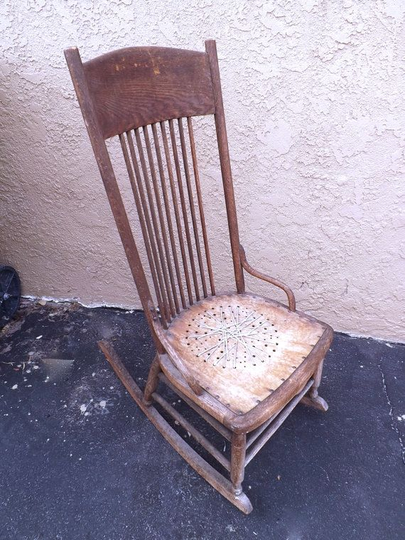 Antique Rocking Chair Primitive Rustic Granny Chair