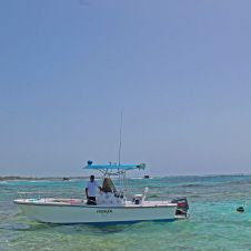 The Hooker is a 24 ft. Mako Center Console fishing boat with twin Yamaha 80 motors. Available from Punta Cana. #makoboatsconsoles