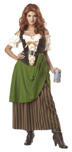 Tavern Maiden Costume for #Halloween or #Okotberfest. #GermanWomen Costumes come in a variety of styles to choose from.