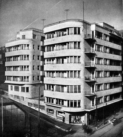 Budapest 1930s Margit körút (Dugattyús ház)