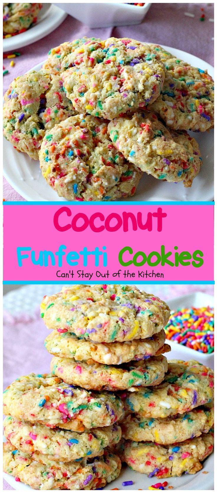Coconut Funfetti Cookies