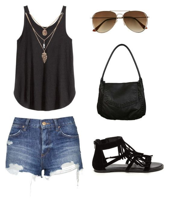 Black Vest and Shorts - outfit ideas for summer - summer outfits