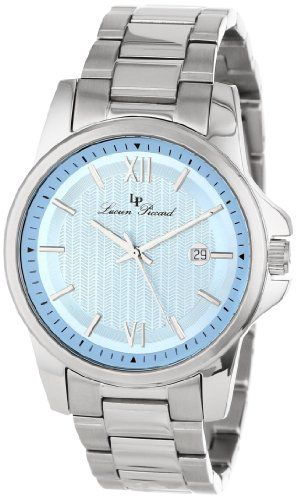 1000 images about lucien piccard watches watches lucien piccard men s 10048 12 breithorn light blue textured dial stainless steel watch