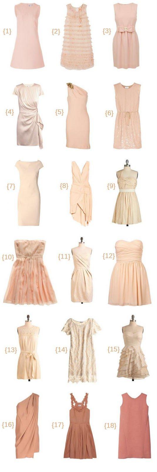 Blush bridesmaid dresses. Stevie