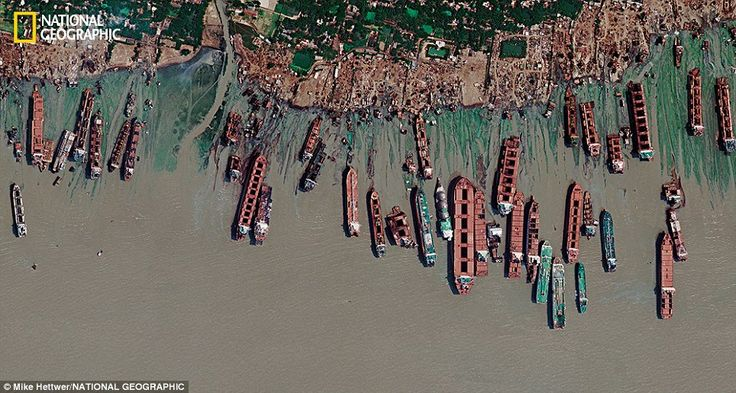 A satellite image shows a mile-long stretch of the Bangladeshi coast just north of Chittag... http://dailym.ai/1muZtk9#i-a89a0e69
