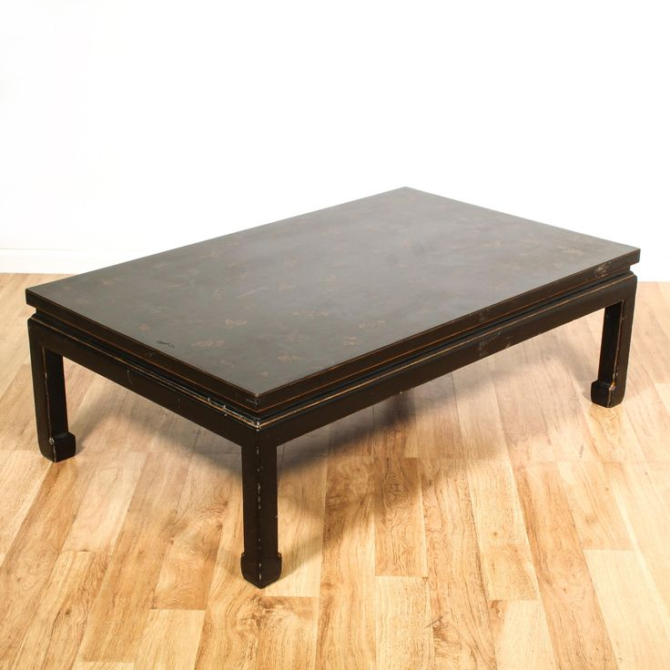 Black Lacquered Chinese Style Coffee Table