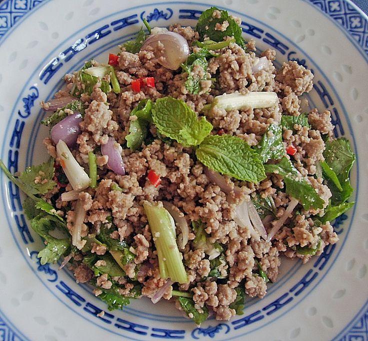 Thailändischer Schweinehackfleischsalat (Larp Muh)