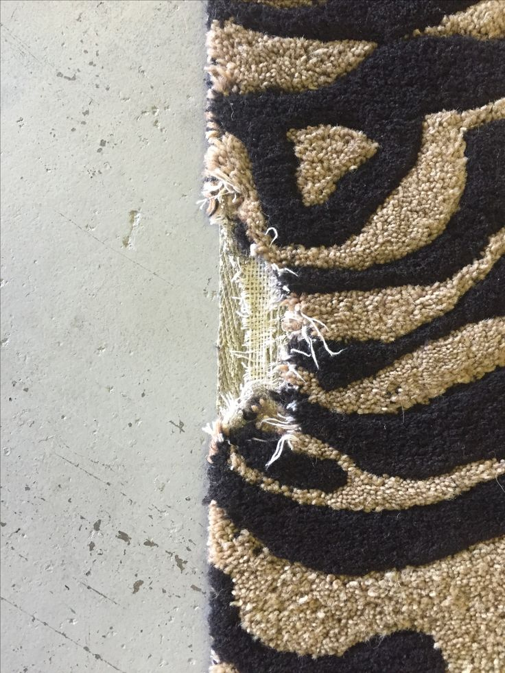 Repairing edge damage on a tufted wool rug – Kansas City Rug Cleaning and Repair Blog