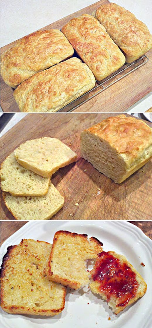 ENGLISH MUFFIN BREAD! This is the one I will make will my other son, the one who likes to bake.