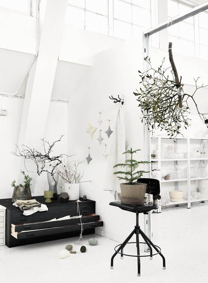 via Petra Bindel, originally Elle. Winter in Carina Seth Anderssons Studio, Stylist Tina Hellberg