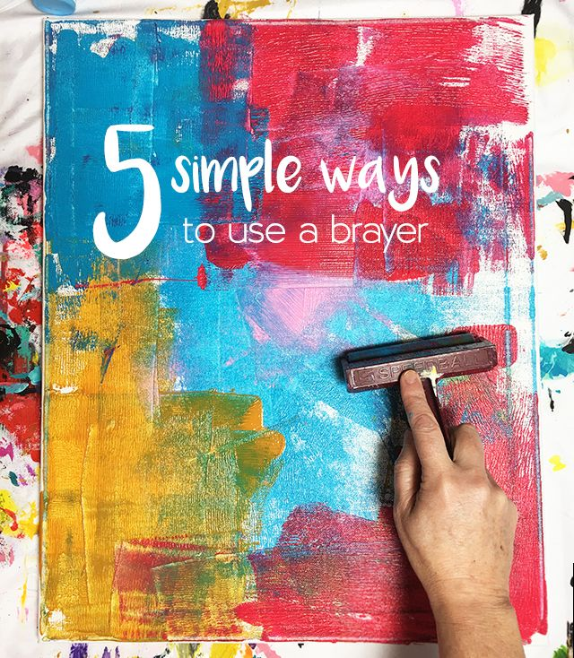 5 simple ways to use a brayer. Gloucestershire Resource Centre http://www.grcltd.org/scrapstore/
