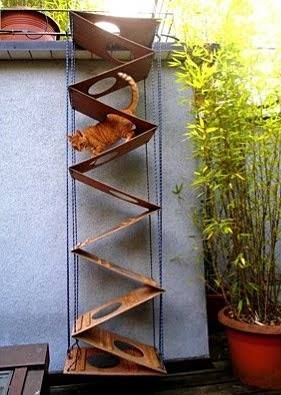 """Cat jungle gym """"stairs""""                                                                                                                                                                                 Más"""