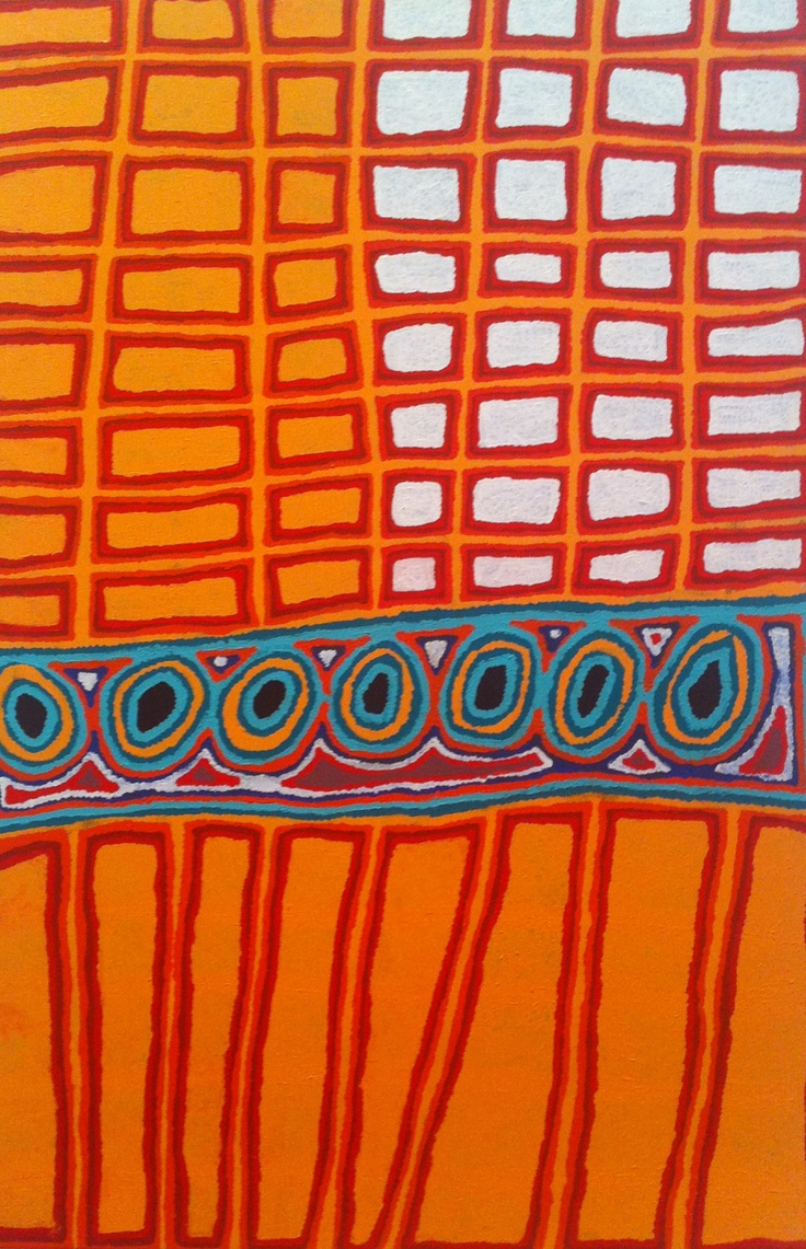 Modern aboriginal art - National Gallery of Victoria.  See article, written by Larrisa Behrendt, re modern indigenous art on Ngurarra canvas below. #art #culture #design
