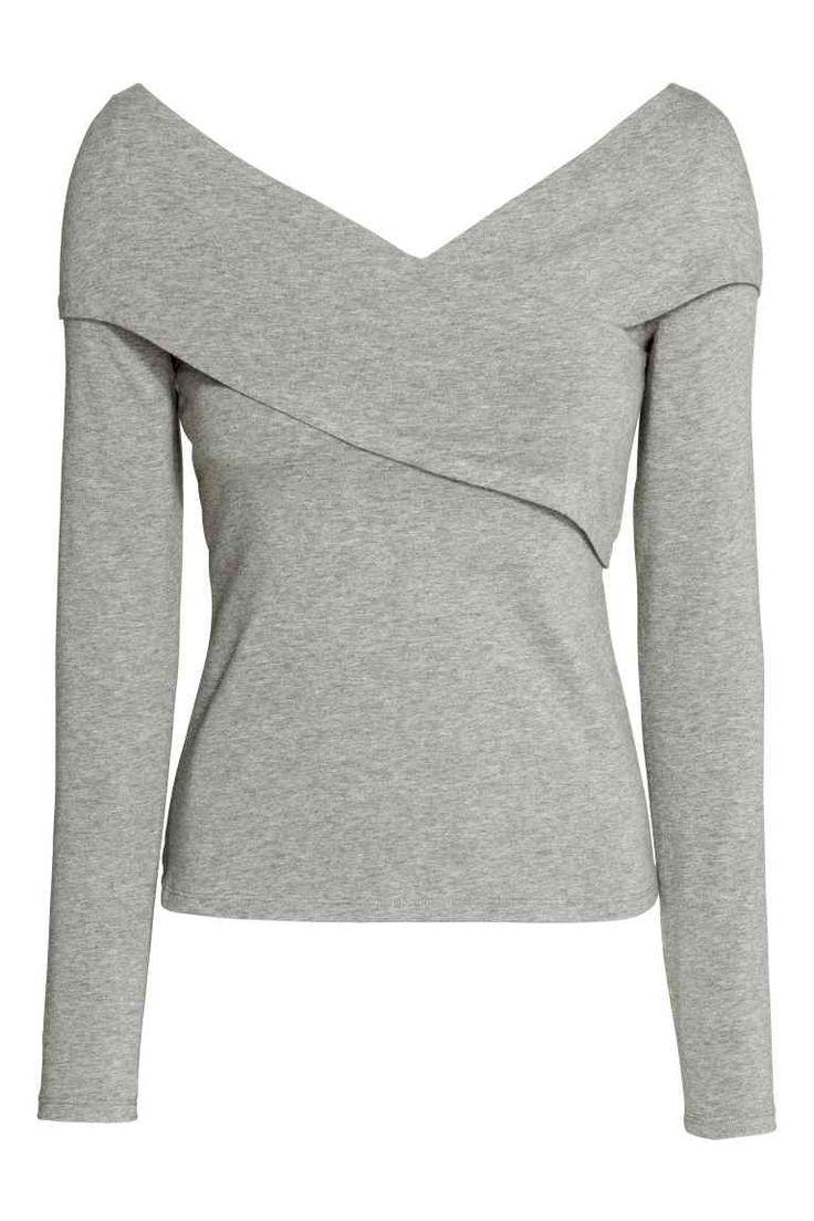 Bluză din jerseu în V | H&M