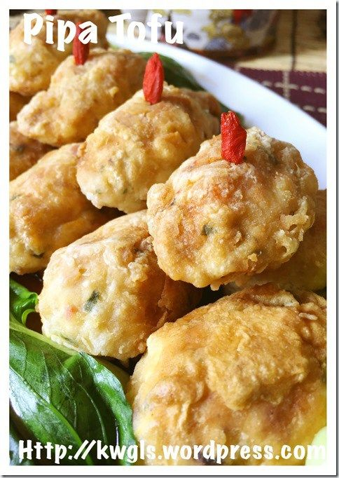 Chinese Fried Tofu Shrimp Balls–Pipa Tofu (琵琶豆腐) #guaishushu #kenneth_goh   #Pipa_tofu  #琵琶豆腐