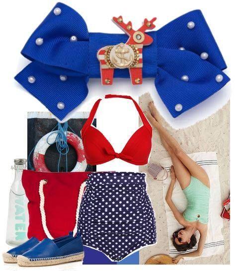 Když dáte dohromady ostře modrou  a korálovou barvu, dostanete krásnou netradiční námořnickou kombinaci v podobě