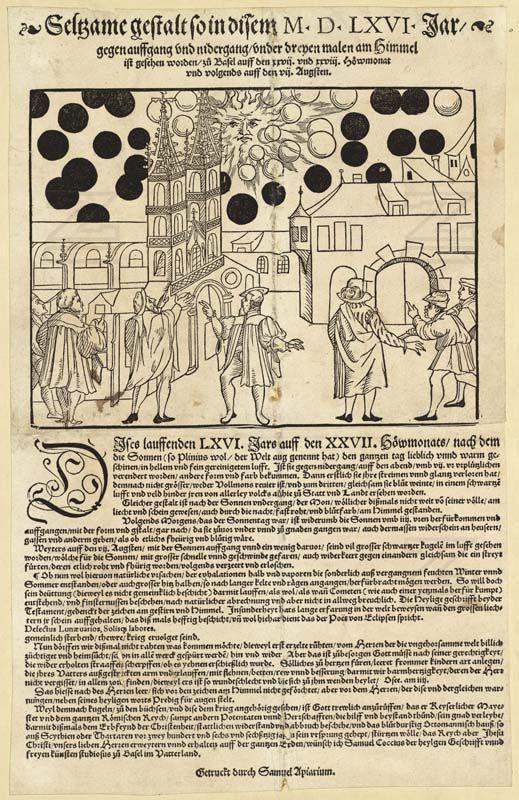 LinkSeltsame Gestalt so in disem MDLXVI Jar - Nürnberger Himmelsspektakel von 1561 – Wikipedia