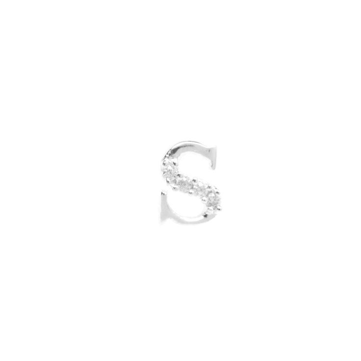 Silver initial 'S' pendant