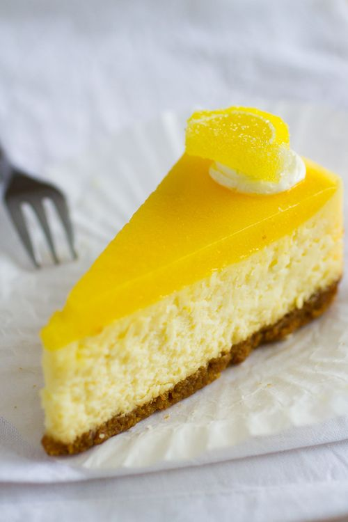 Meyer Lemon Cheesecake Recipe with Mascarpone on https://www.theculinarylife.com