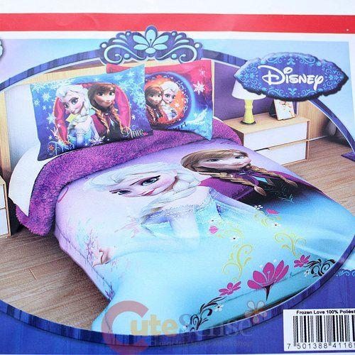 Disney Frozen Elsa And Anna Full Size Sherpa Throw Plush