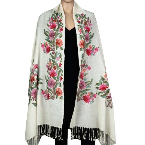 Kashmir-shawls-navy-wrap-Hand-embroidery-blue-stole-wraps-evening-shawl -dinner-embroidered-bridal-wedding-shawl-scarves-paisley-pashmina-scarf-floral-stoles  ...