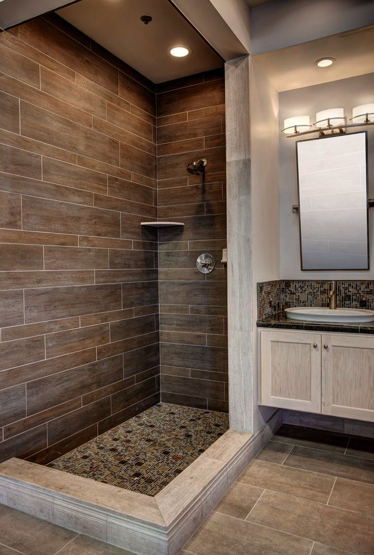 Bathroom Ideas Large Space Once Bathroom Ideas Turquoise Between Bathroom Remodel On A Dime Wood Tile Bathroom Tiny House Bathroom Bathrooms Remodel