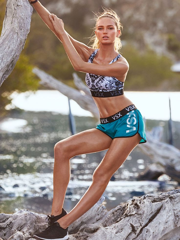Climbing trees totally counts as a workout—this sport bra's game for anything. | The Player by Victoria's Secret Racerback Sport Bra
