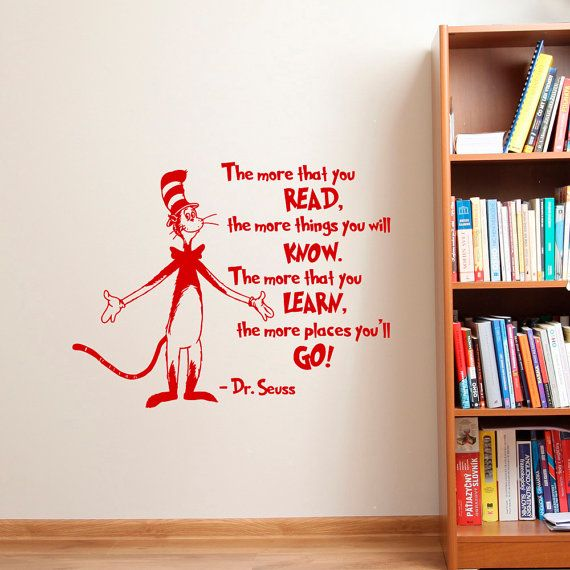 Dr Seuss Wall Decal Dr Seuss Quotes The More That You Read Part 85