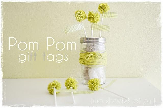 Pom Pom: Pompoms, Pom Poms, Pom Gift, Gifts, Gift Tags, Washi Tape, Craft Ideas, Diy