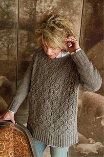 With its boxy silhouette, striking cable motif, and polished clean-line sleeves, this sweater is a timeless piece that's right on trend. Knit in pieces from the bottom up and seamed to lend the perfect amount of structure, it's sure to become a staple in every sweater knitter's closet!