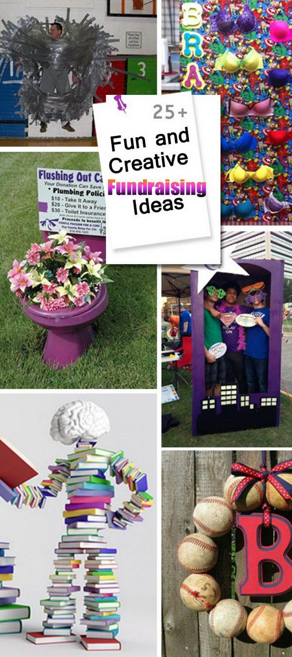 Here are 25+ Fun and Creative Fundraising Ideas for school fundraisers or non-profit charity events. They are sure to help you raise lots of money fast.    #schoolfundraiser   Create your online fundraising campaign at http://gogetfunding.com