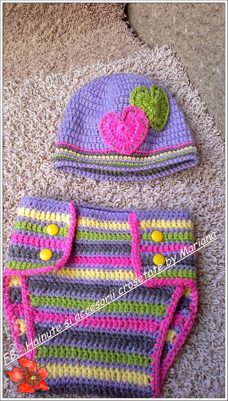 Hainute si accesorii crosetate by Mariana: Set colorat pentru sedinta foto.