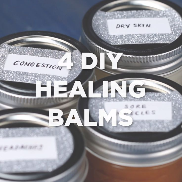 4 DIY Healing Balms #DIY #skin #health