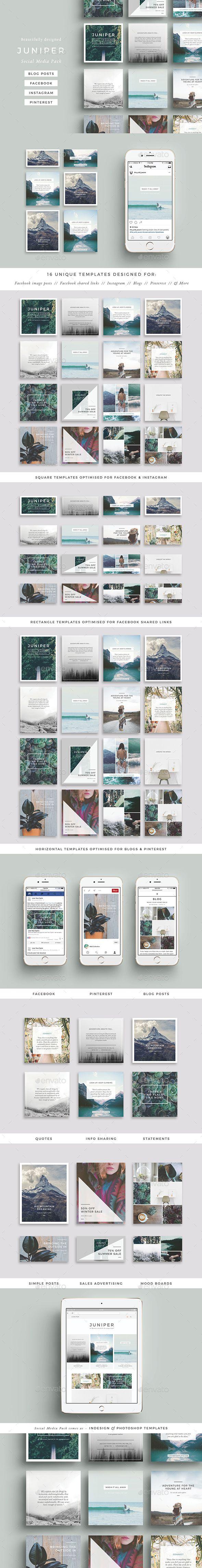 Juniper Social Media Pack  — PSD Template #best social media #Pinterest • Download ➝ https://graphicriver.net/item/juniper-social-media-pack/18468890?ref=pxcr
