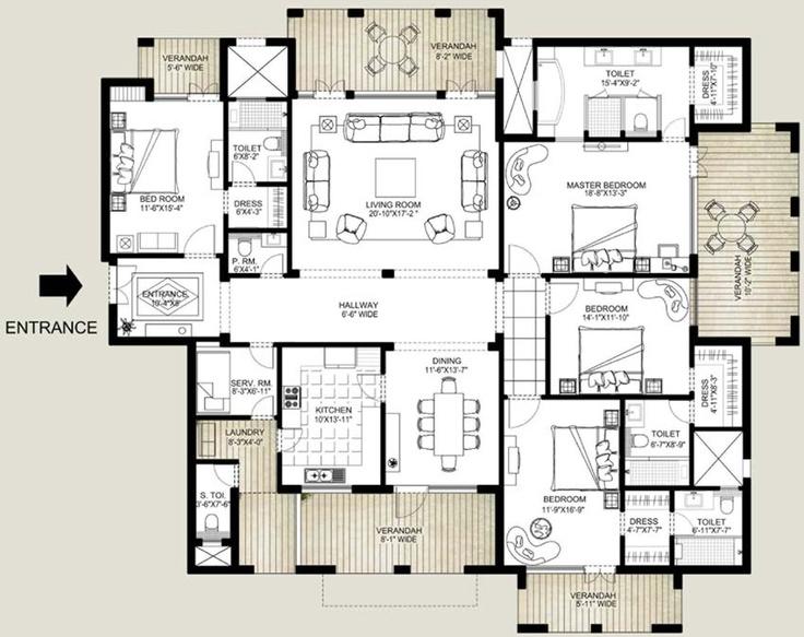 Apartment Floor Plans, House Floor Plans, Penthouses, Floors, Home Plants,  Frostings, Flooring, House Layouts, Floor Plans