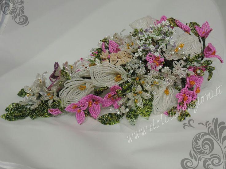 Fiori di perline: bouquet sposa