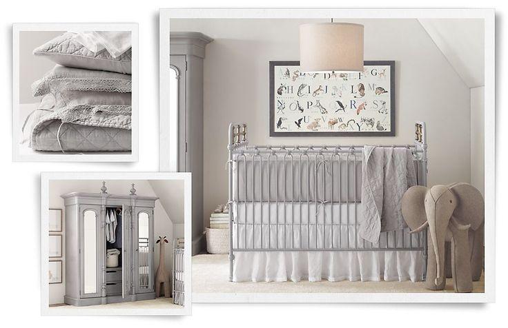 Rooms | Restoration Hardware Baby & Child  Soft grey and white- gender neutral