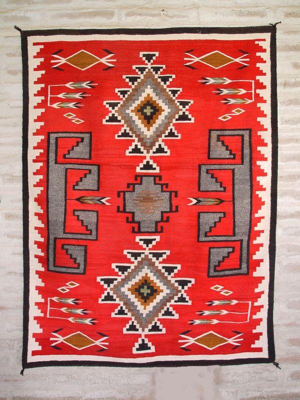 Historic Navajo Ganado Rug Rugs Pinterest