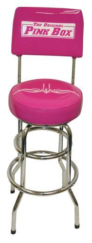 The Original Pink Box Swivel Backed Stool - Tools - Garage Organization & Shelving - Stools
