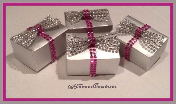 50 BLING Wedding Party Favor Boxes by FavorsCouture on Etsy, USD100.00 ...