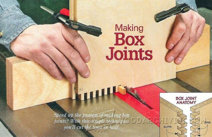Box Joints - Joinery Tips, Jigs and Techniques - Woodwork, Woodworking, Woodworking Tips, Woodworking Techniques