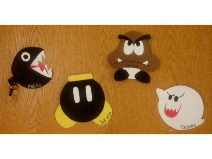 Super Mario themed door decs- Rachel W.