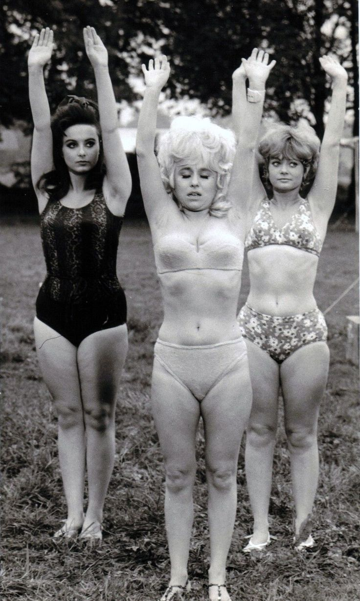Angela Grant, Barbara Windsor and Georgina Moon. Carry On Camping. 1969