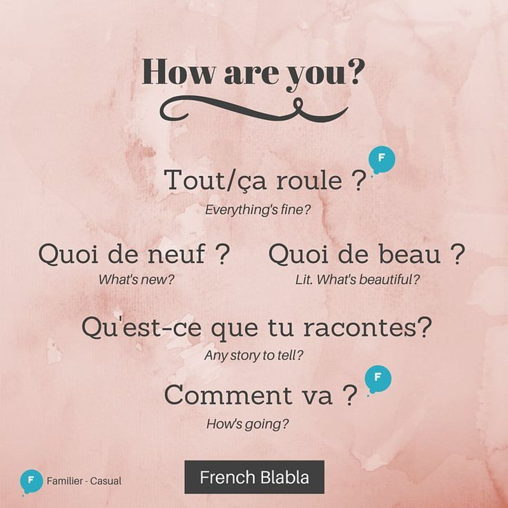 Franch Quotes Ways To Say How Are You In French With Images