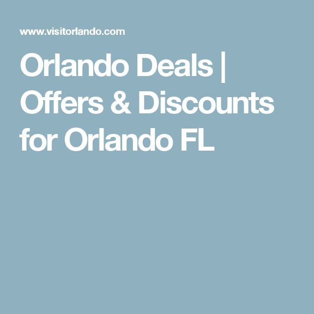 Orlando Deals | Offers & Discounts for Orlando FL