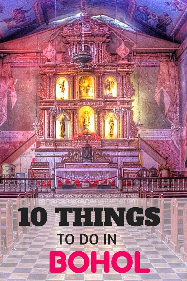 The 10 top things to do in Bohol, Philippines, from seeing tarsiers to visiting the popular Chocolate Hills.
