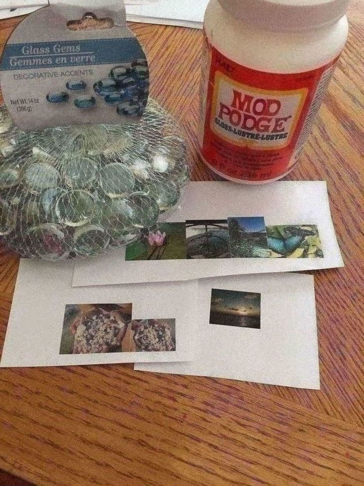 I was at a store and saw a glass magnet with a beach scene picture behind it. $5 each. I thought, well I can make some thing similar. This is a simple projec…